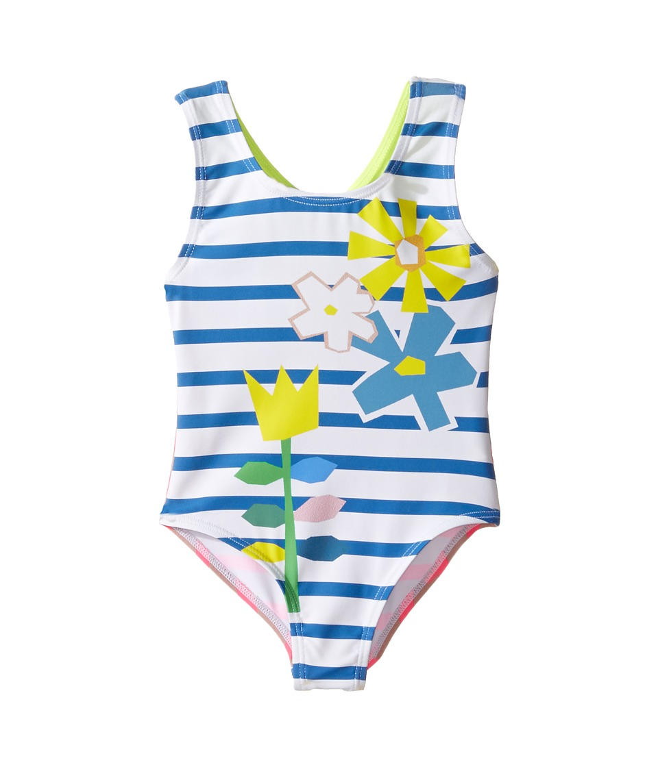 Stella McCartney Kids - Molly Striped Floral One-Piece Swimsuit (Toddler/Little Kids/Big Kids) (Multi) Girl's Swimsuits One Piece