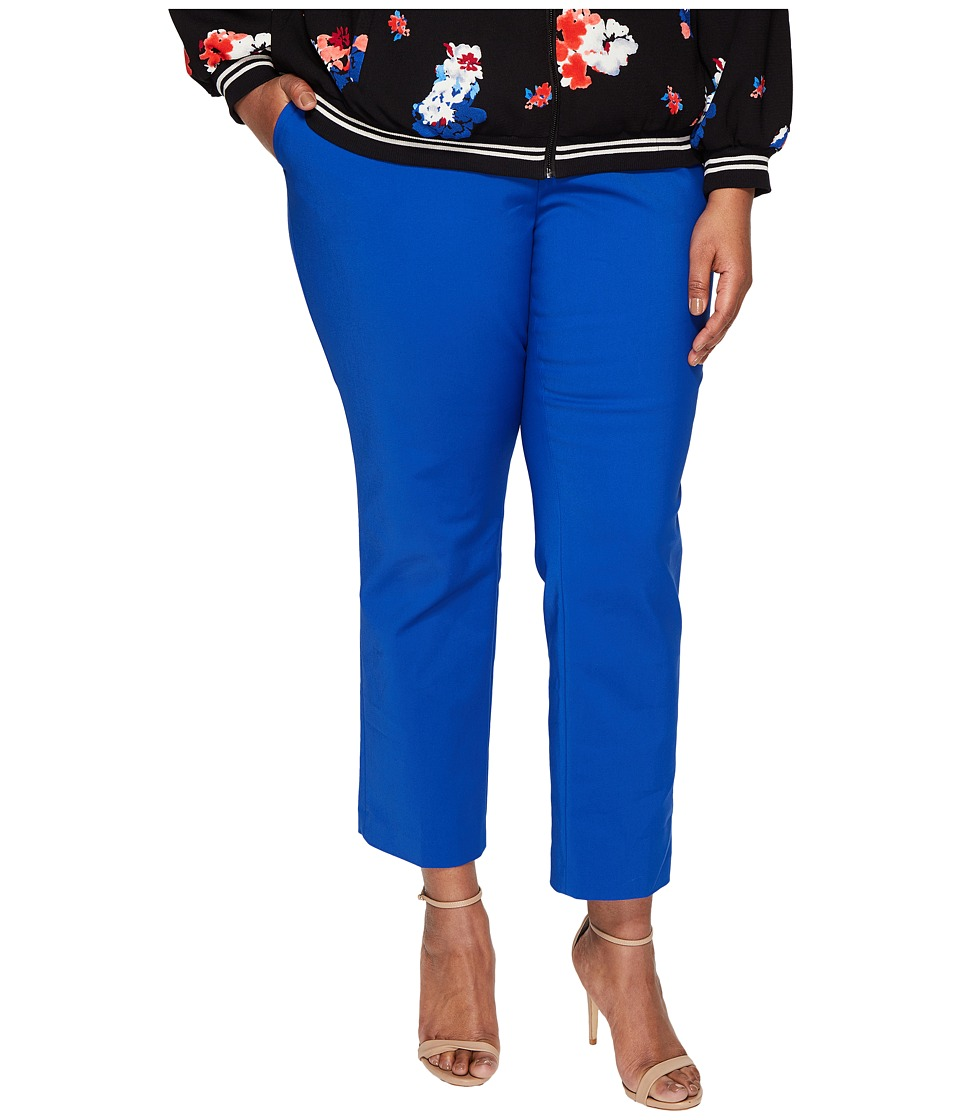 Vince Camuto Specialty Size - Plus Size Front Zip Ankle Pants (Core Blue) Women's Casual Pants