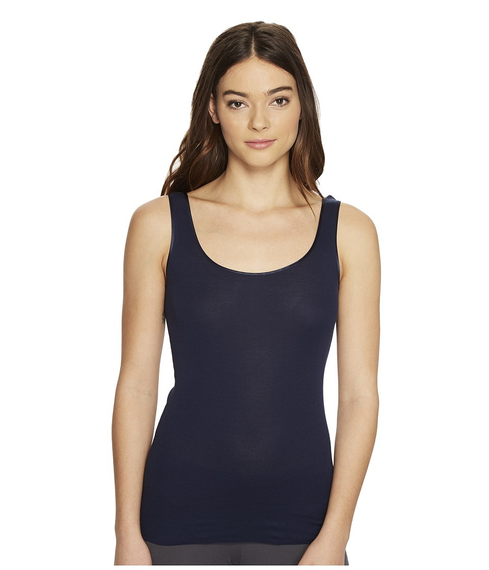 Hanro - Cotton Seamless Confetti Round Neck Tank Top (Deep Midnight) Women's Underwear