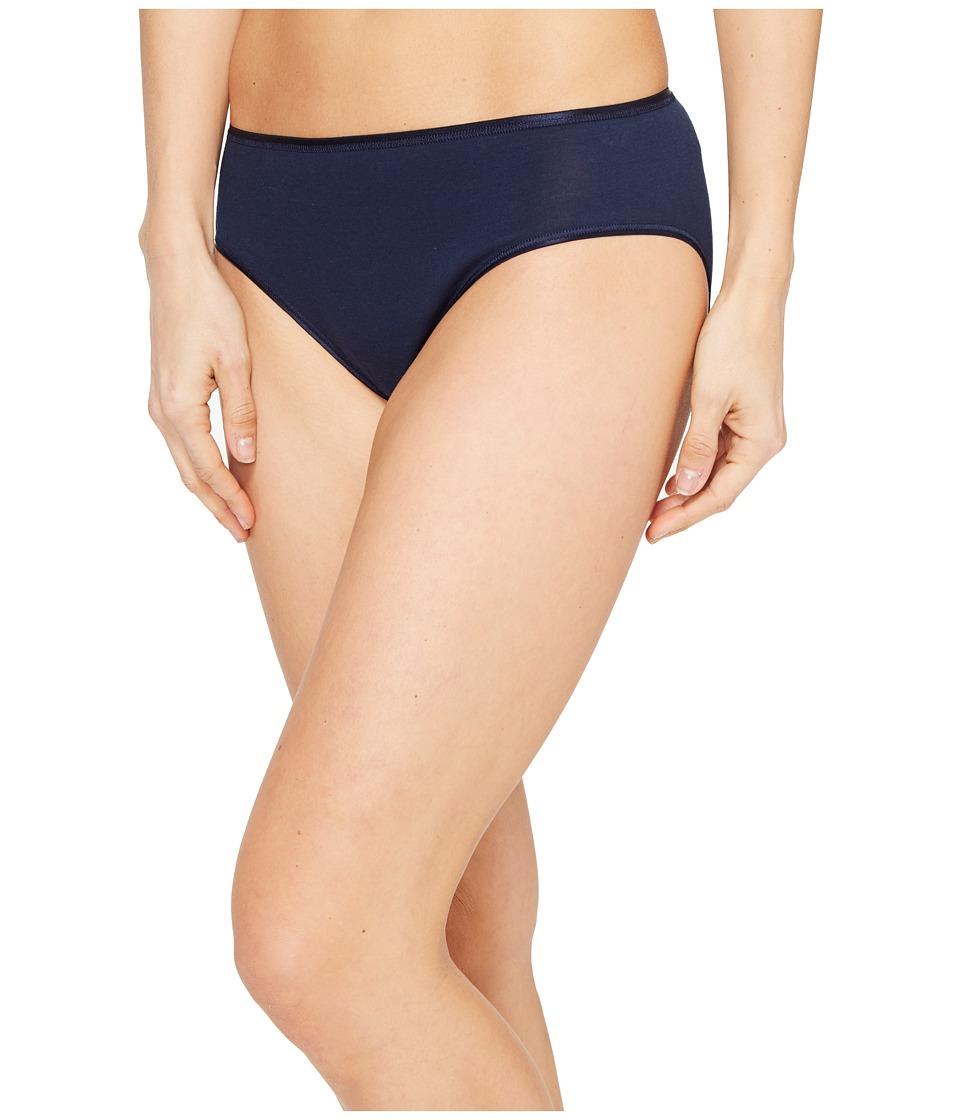 Hanro - Cotton Seamless Hi-Cut Full Brief 1626 (Deep Midnight) Women's Underwear