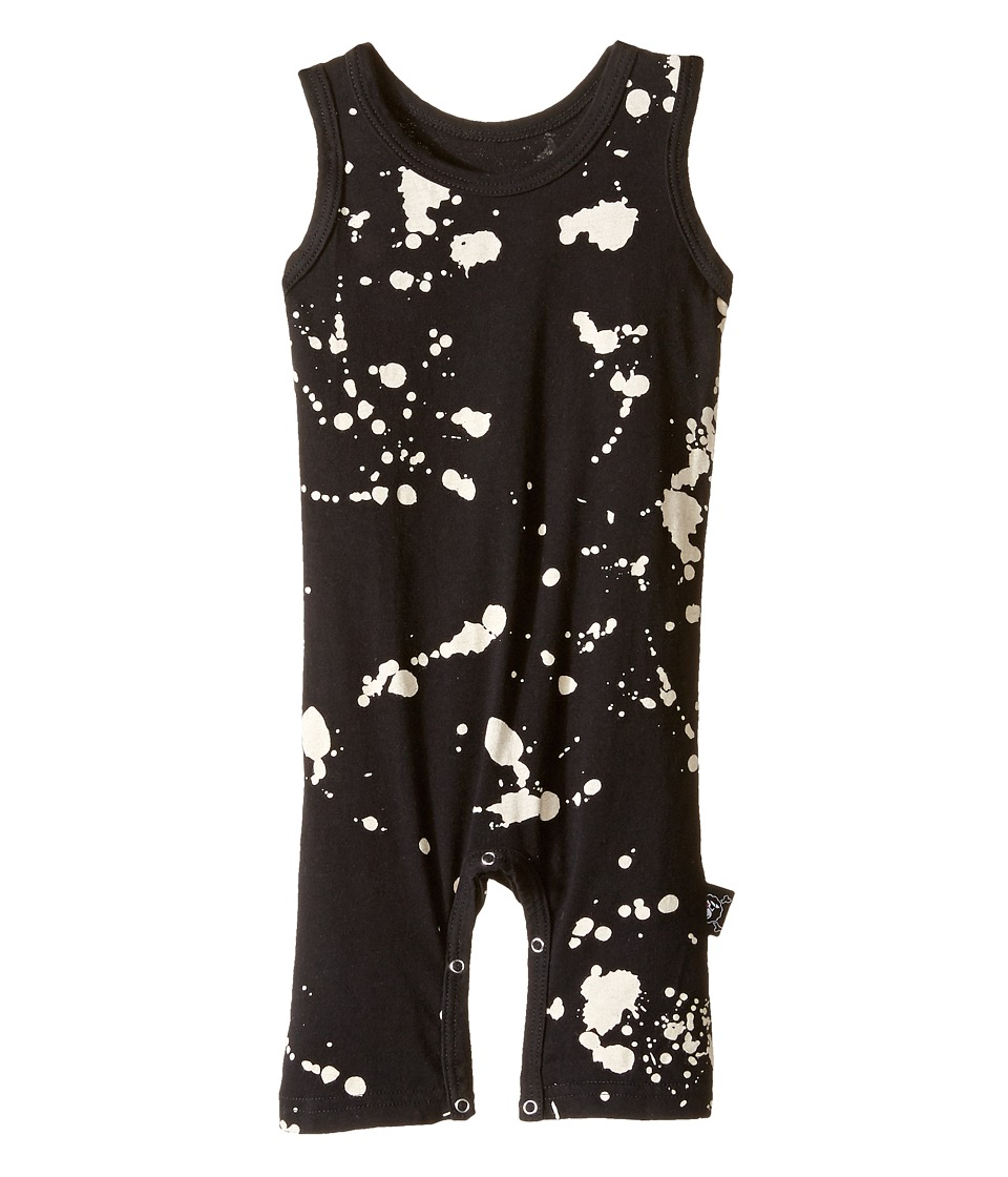 Nununu - Splash Overall (Infant) (Black) Kid's Overalls One Piece