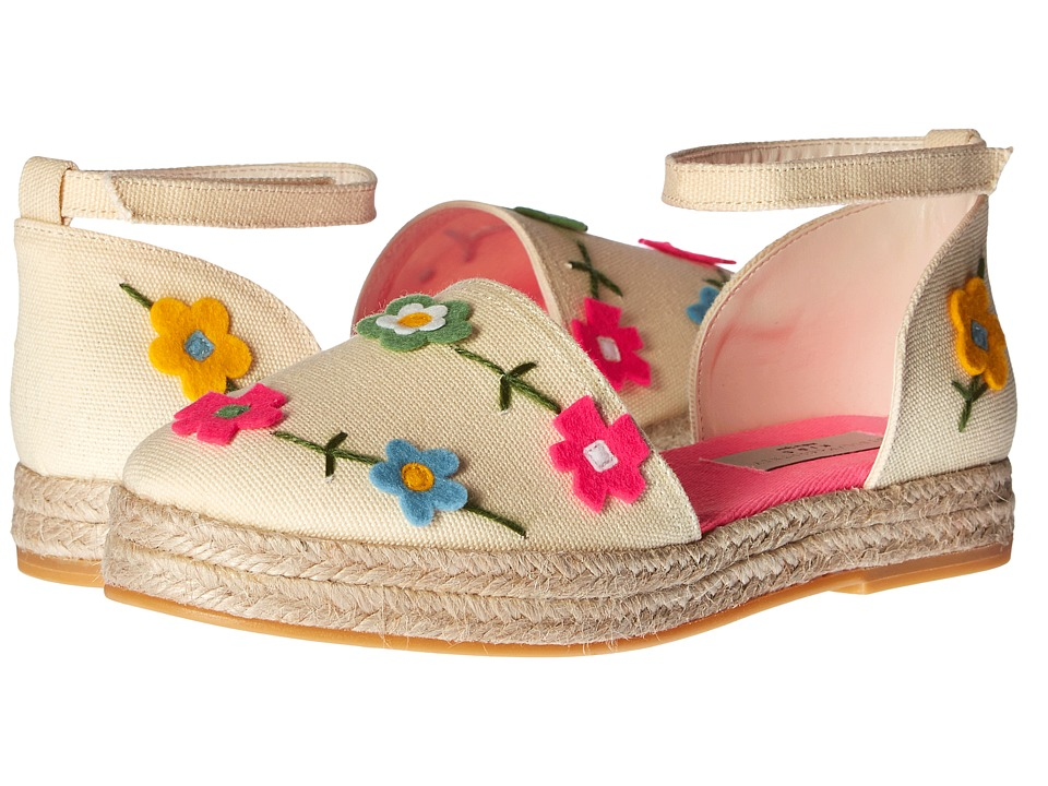 Stella McCartney Kids - Flora Canvas Espadrilles with Floral Appliques (Little Kid/Big Kid) (Cream) Girl's Shoes