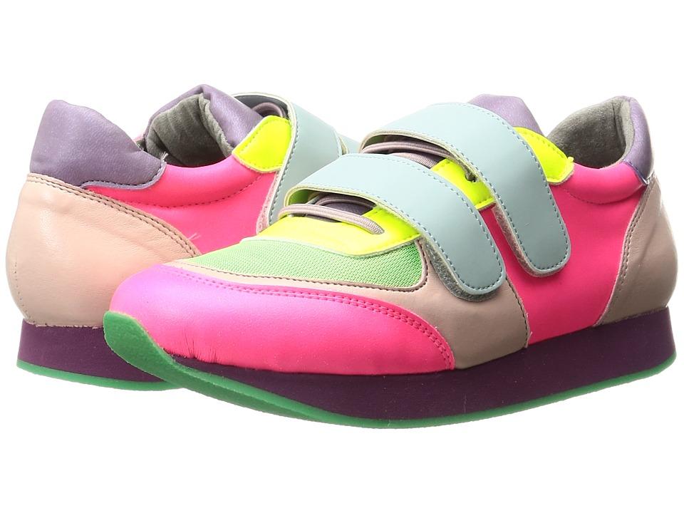 Stella McCartney Kids - Whoosh Color Block Sneakers (Little Kid/Big Kid) (Multi) Girl's Shoes