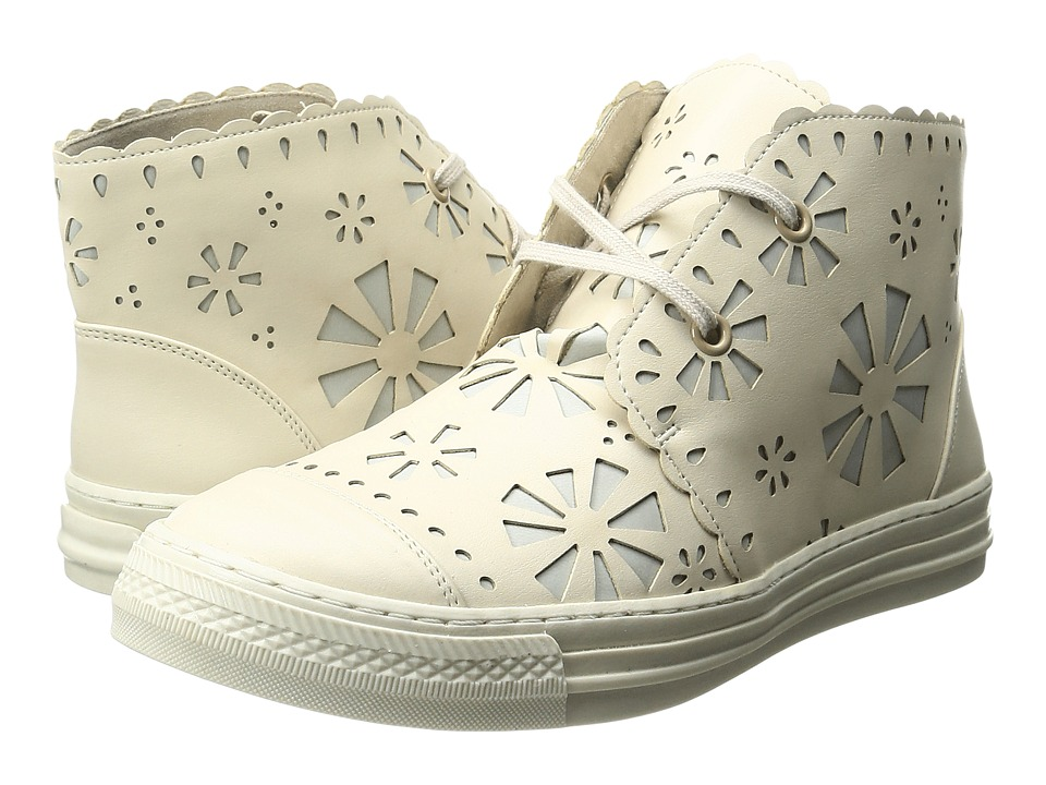 Stella McCartney Kids - Alonzo High Top Daisy Cut Out Sneakers (Little Kid/Big Kid) (Beige) Girl's Shoes