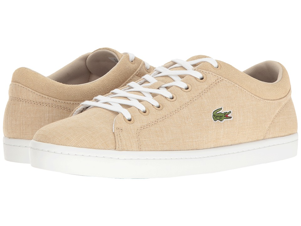 Lacoste - Straightset SP 217 1 (Light Tan) Men's Shoes