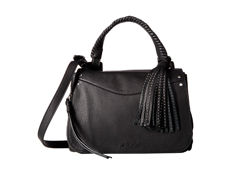 Elizabeth and James - Trapeze Small Crossbody (Black) Cross Body Handbags
