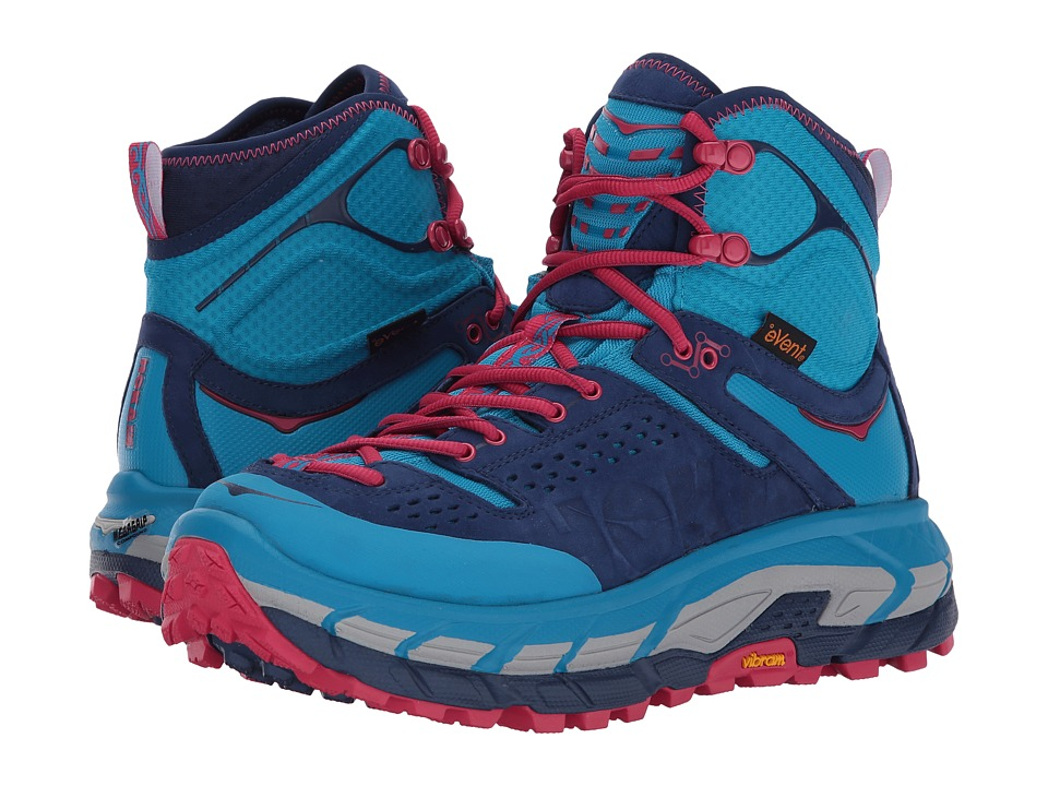 Hoka One One - Tor Ultra Hi WP (Blue Jewel/Medieval Blue) Women's Running Shoes