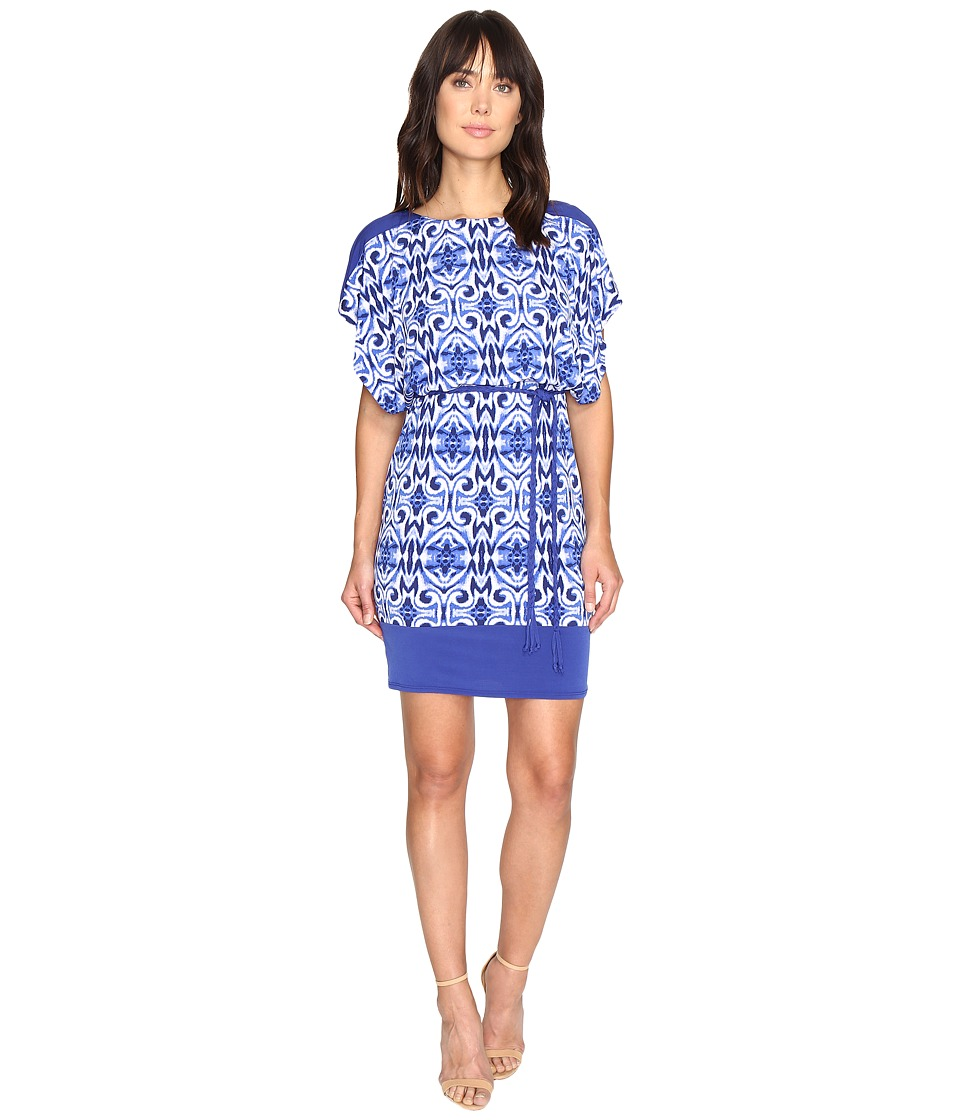 Sangria Jersey Blouson Dress (Multi) Women