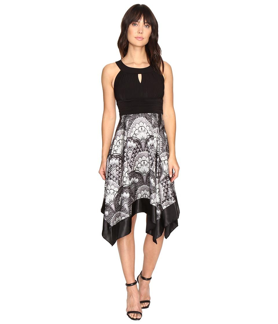 Sangria Scarf Print Dress (Sterling) Women
