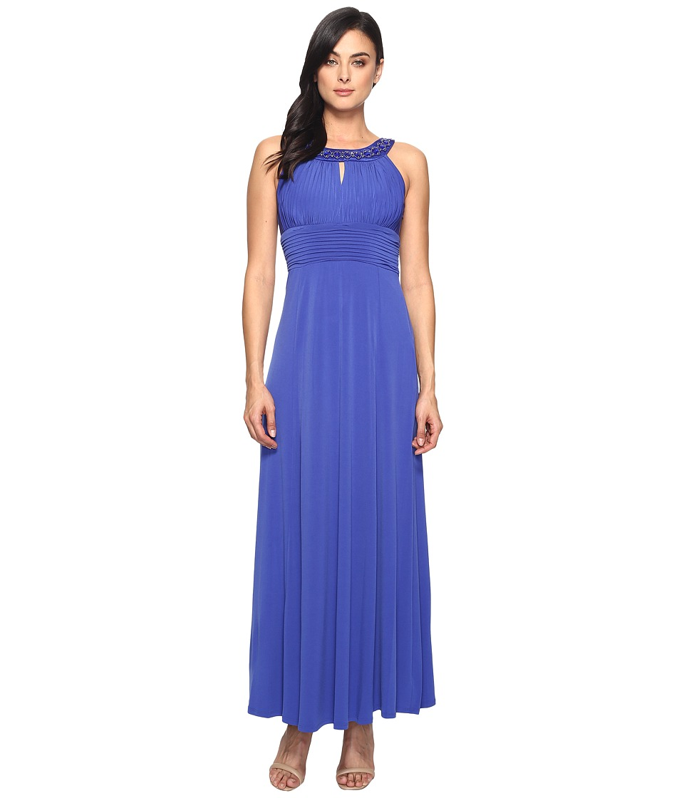 Sangria - Keyhole Maxi Dress (Tanzanite) Women's Dress