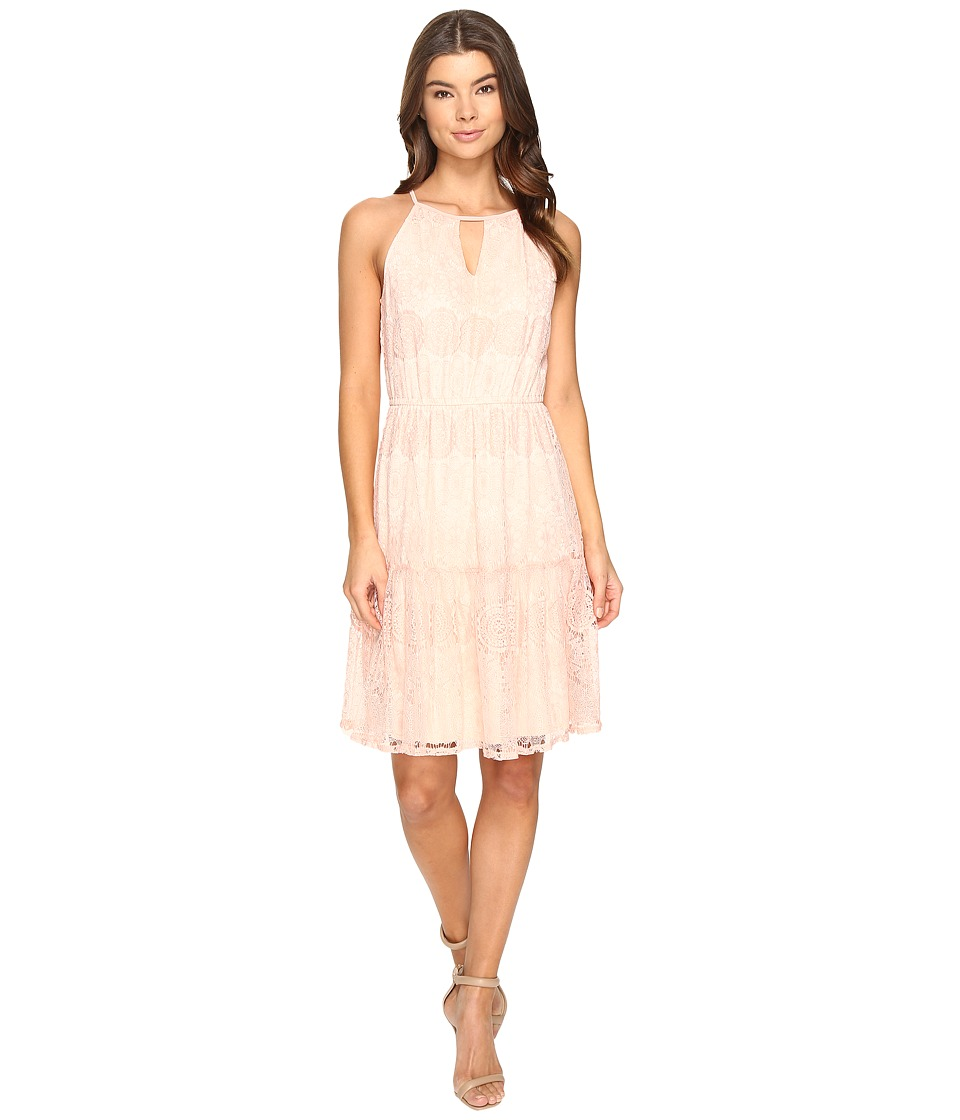 Sangria Lace Tie Front Dress (Honeysuckle) Women
