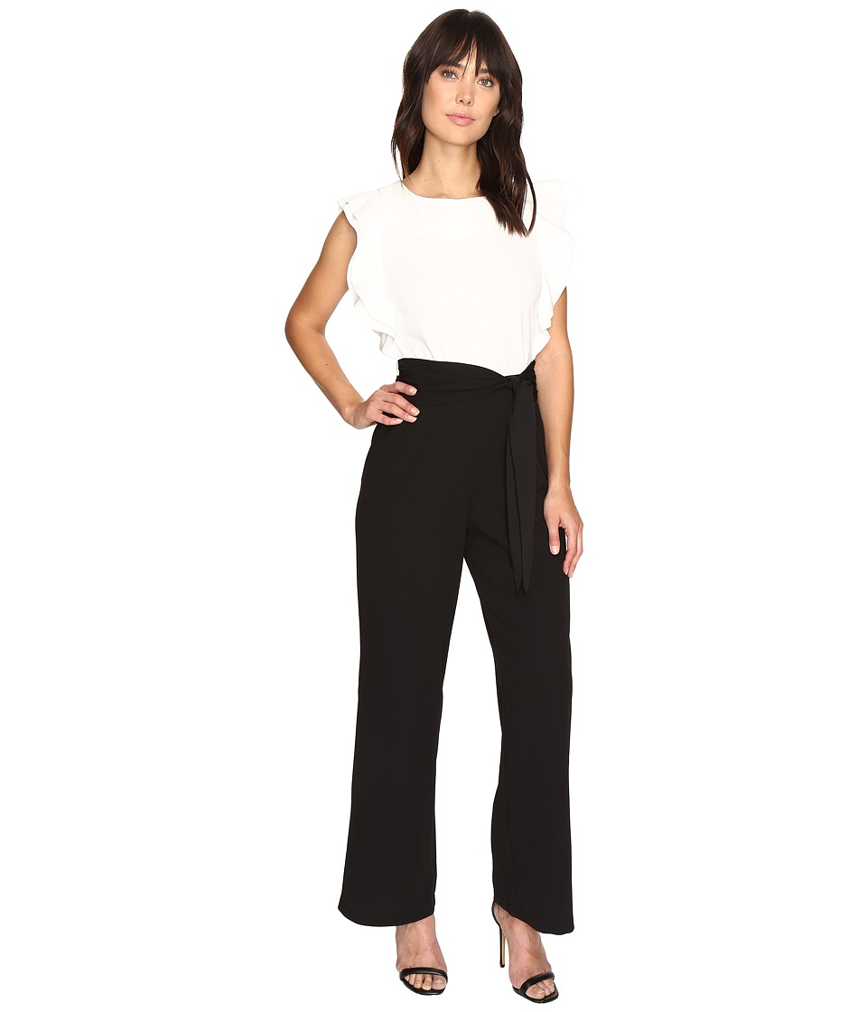Sangria - Bi-Color Jumpsuit (Black/Ivory) Women's Jumpsuit & Rompers One Piece