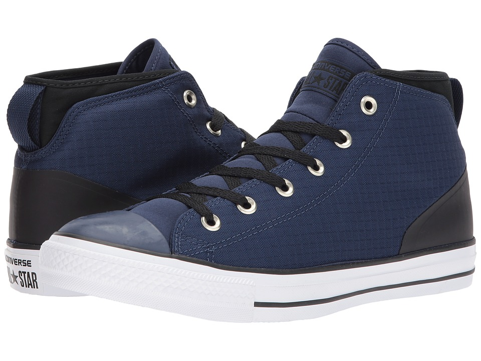 Converse - Chuck Taylor(r) All Star(r) Syde Street - Mid (Midnight Navy/Black) Lace up casual Shoes