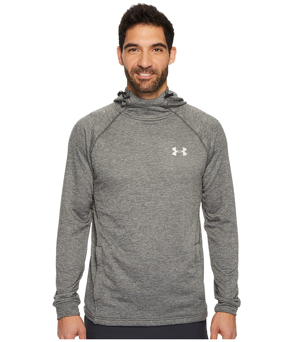 Under Armour Tech Terry Fitted Pollover Hoodie (Carbon Heather) Men
