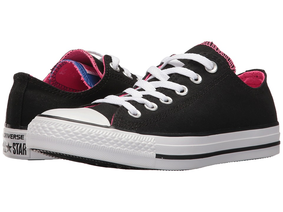 Converse Chuck Taylor All Star Double Tongue Ox (Black/Pink Pow/White) Women