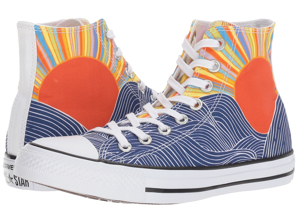 Converse - Chuck Taylor All Star - Hi (Patriot Blue/Pink/White) Women's Lace up casual Shoes