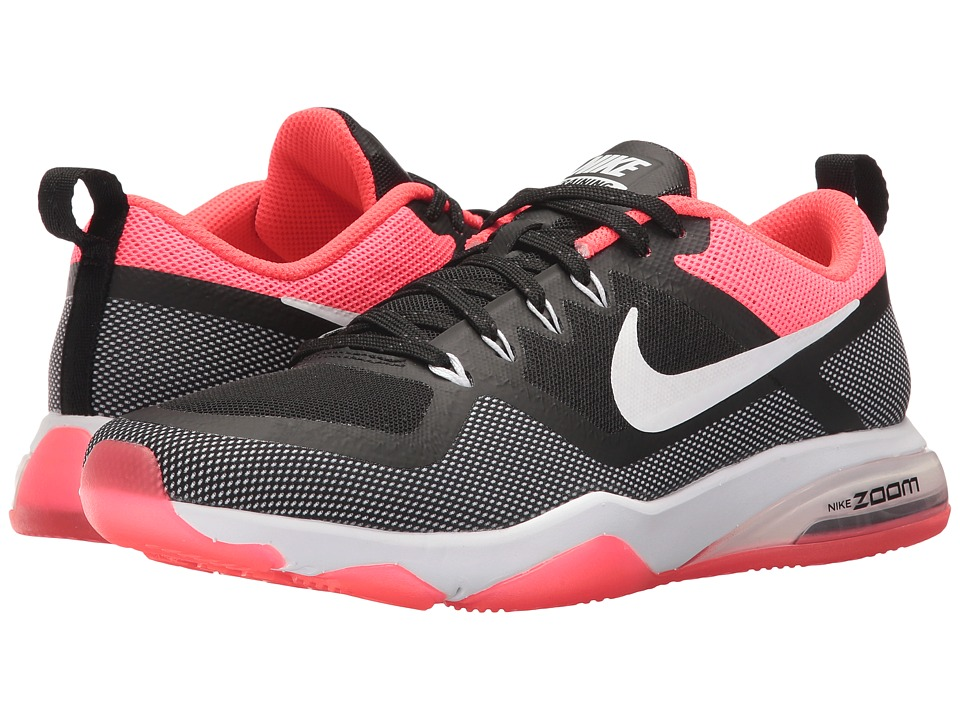 Nike - Zoom Training Fitness (Black/White/Solar Red) Women's Cross Training Shoes