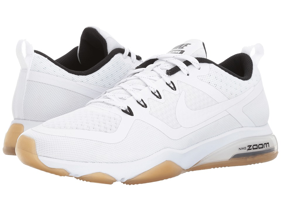 Nike Zoom Training Fitness (White/White/Black/Gum Light Brown) Women