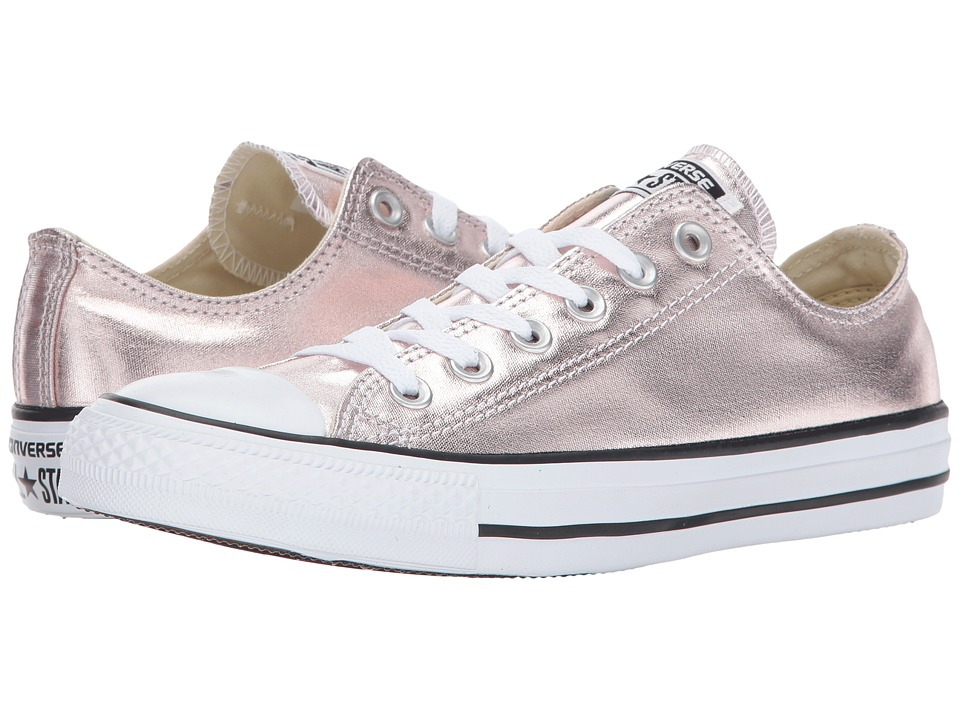 Converse Chuck Taylor All Star Metallic Canvas Ox (Rose Quartz/White/Black) Lace up casual Shoes