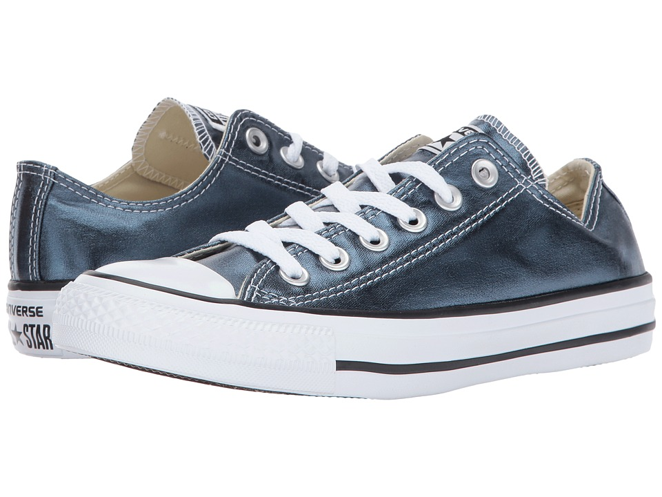 Converse - Chuck Taylor All Star Metallic Canvas - Ox (Blue Fir/White/Black) Lace up casual Shoes