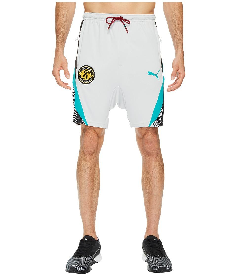 PUMA - Daily Paper Shorts (Gray/Violet) Men's Shorts
