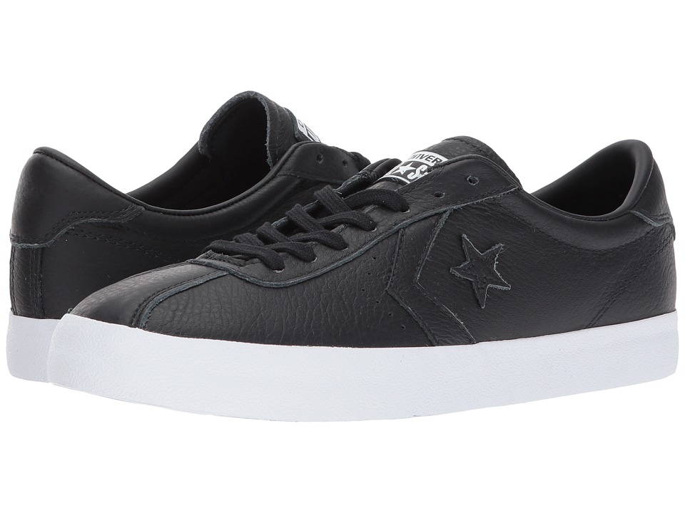 Converse Breakpoint Leather Ox (Black/Black/White) Lace up casual Shoes