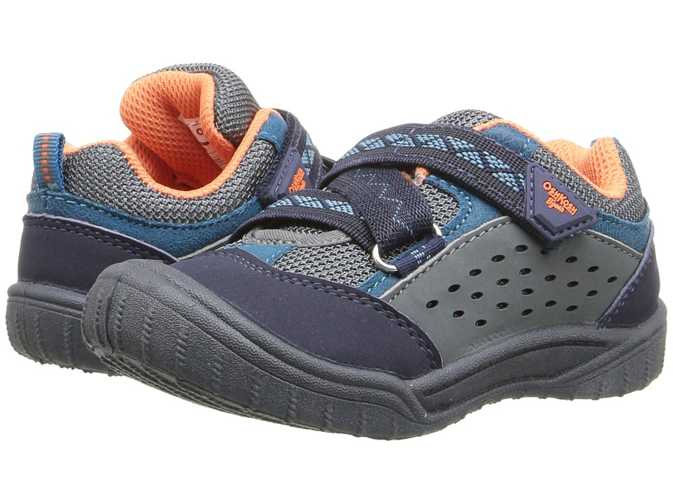 OshKosh - Magma (Toddler/Little Kid) (Navy/Grey/Orange) Boy's Shoes