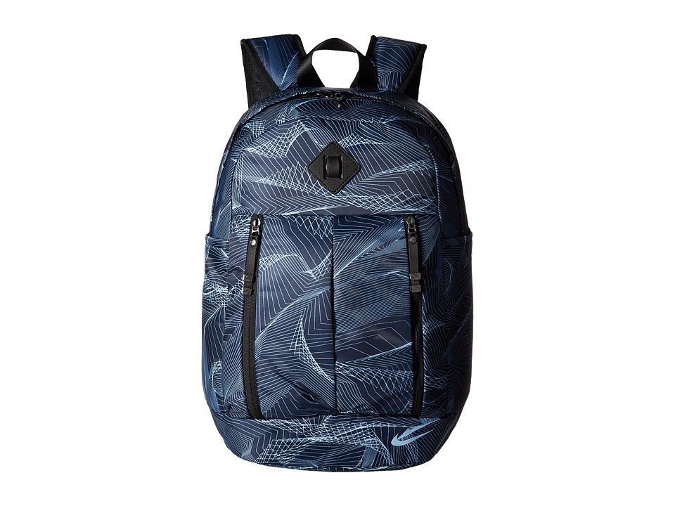 Nike Auralux Backpack Print (Thunder Blue/Black/Cirrus Blue) Backpack Bags