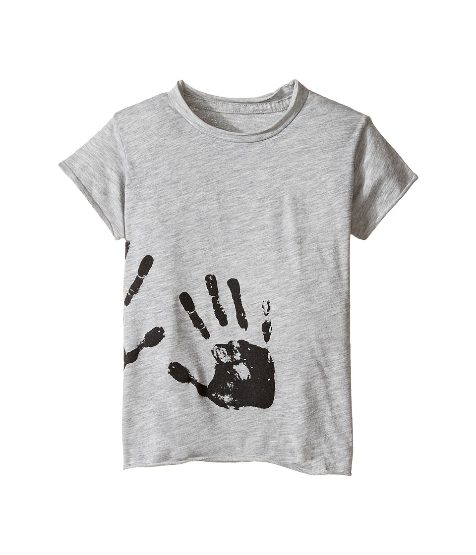 Nununu - Hand Print Raw T-Shirt (Infant/Toddler/Little Kids) (Heather Grey) Kid's T Shirt