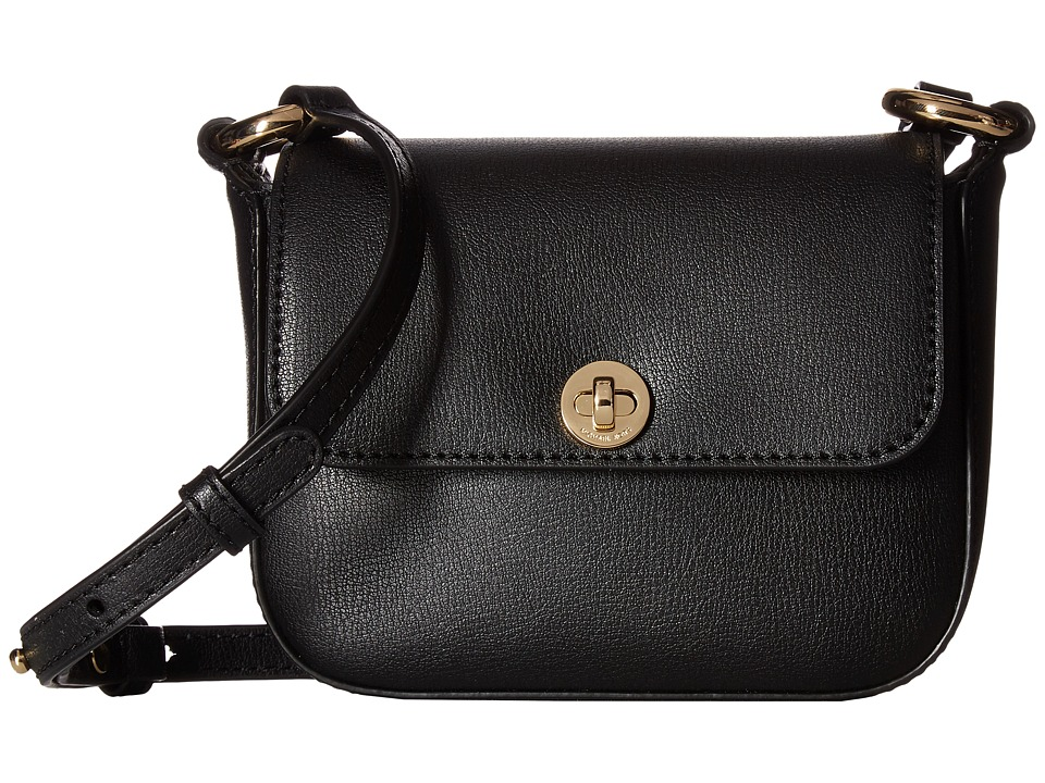 MICHAEL Michael Kors - Rivington Large Flap Crossbody (Black) Cross Body Handbags