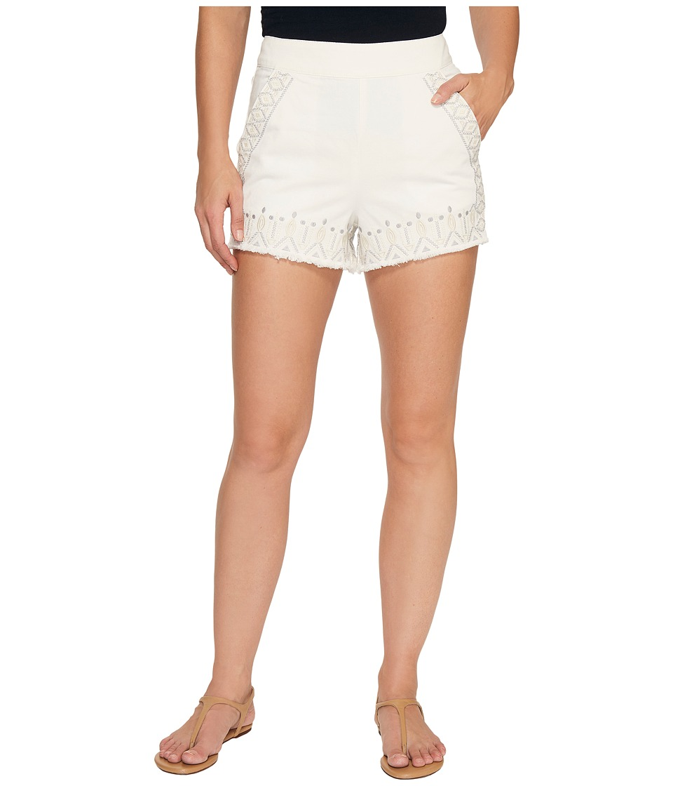 Blank NYC - Embroidered Shorts in Snow Flake (Snow Flake) Women's Shorts