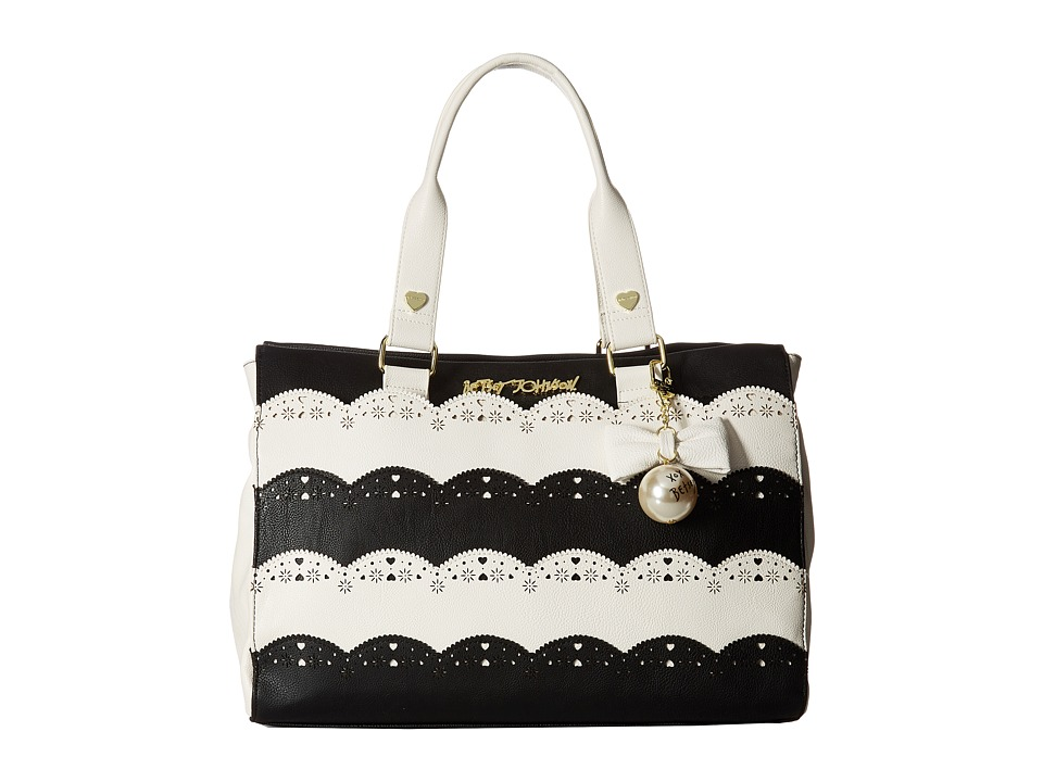 Betsey Johnson - Lazer Cut Tote (Black) Tote Handbags