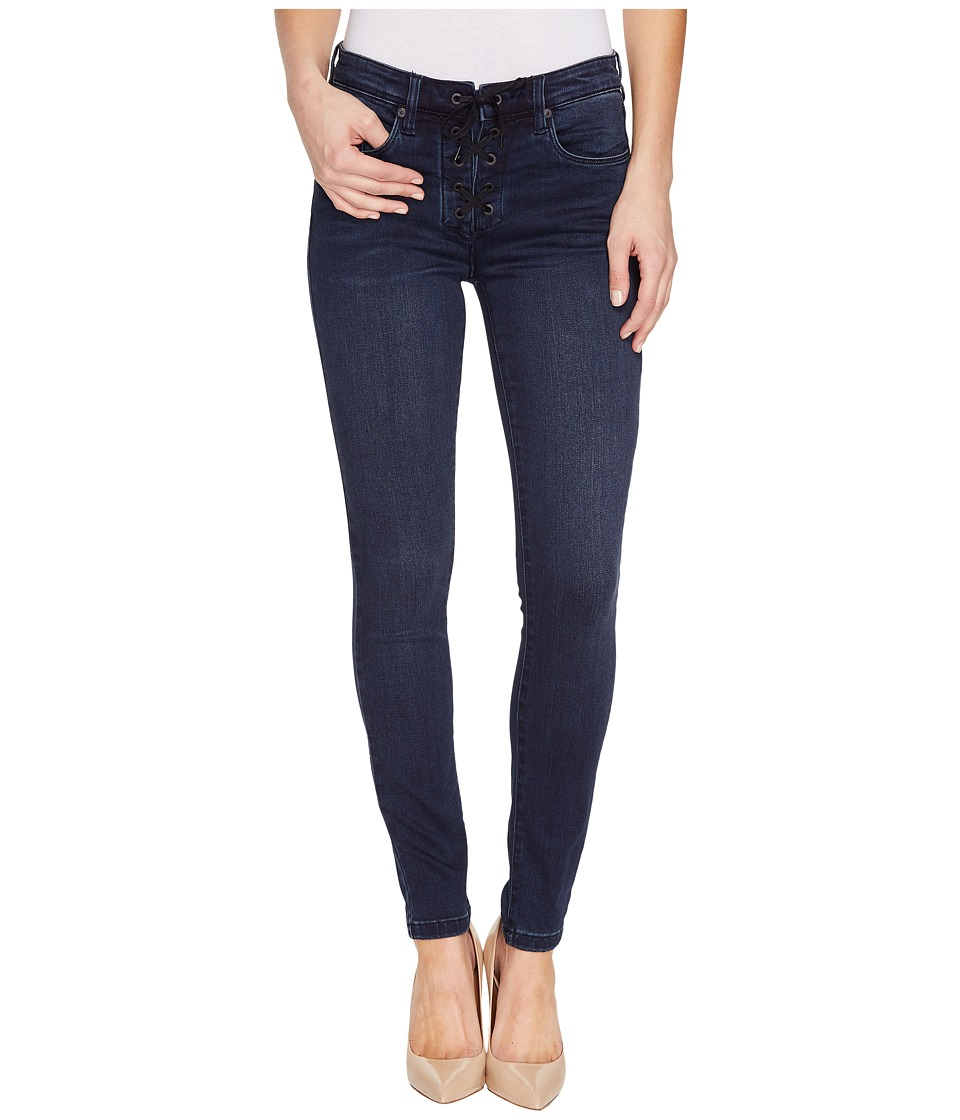 Blank NYC - Lace Up Dark Denim Skinny in Swing Away (Swing Away) Women's Jeans