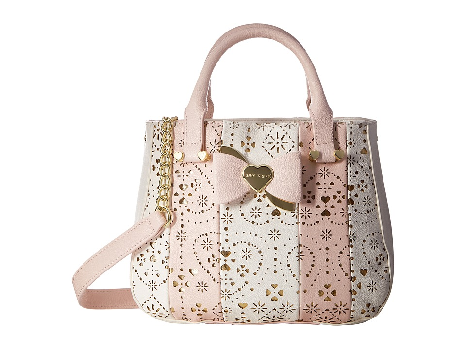 Betsey Johnson - Lazer Cut Top-Handle (Blush) Top-handle Handbags
