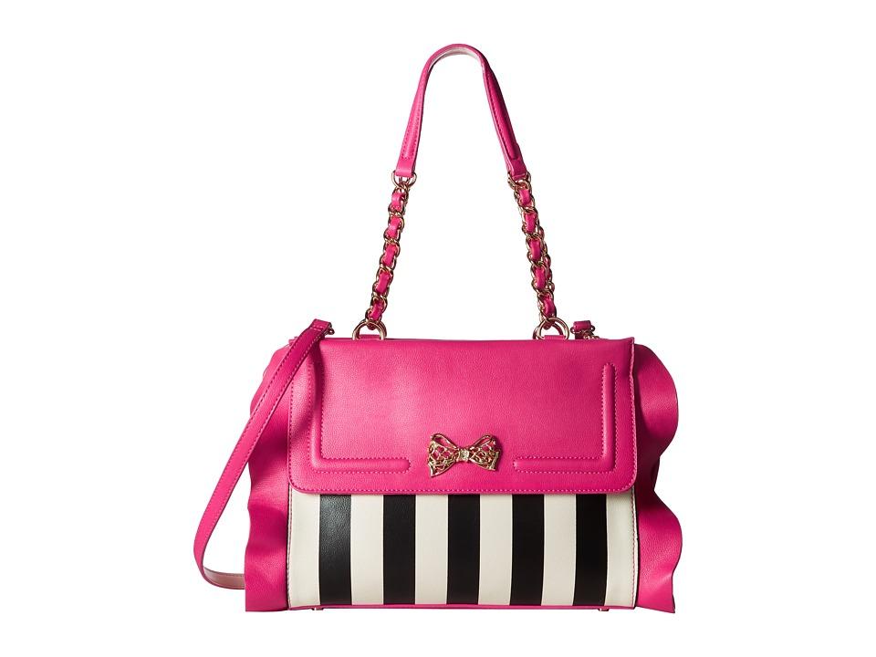 Betsey Johnson - Flouncin' Around Satchel (Stripe) Satchel Handbags