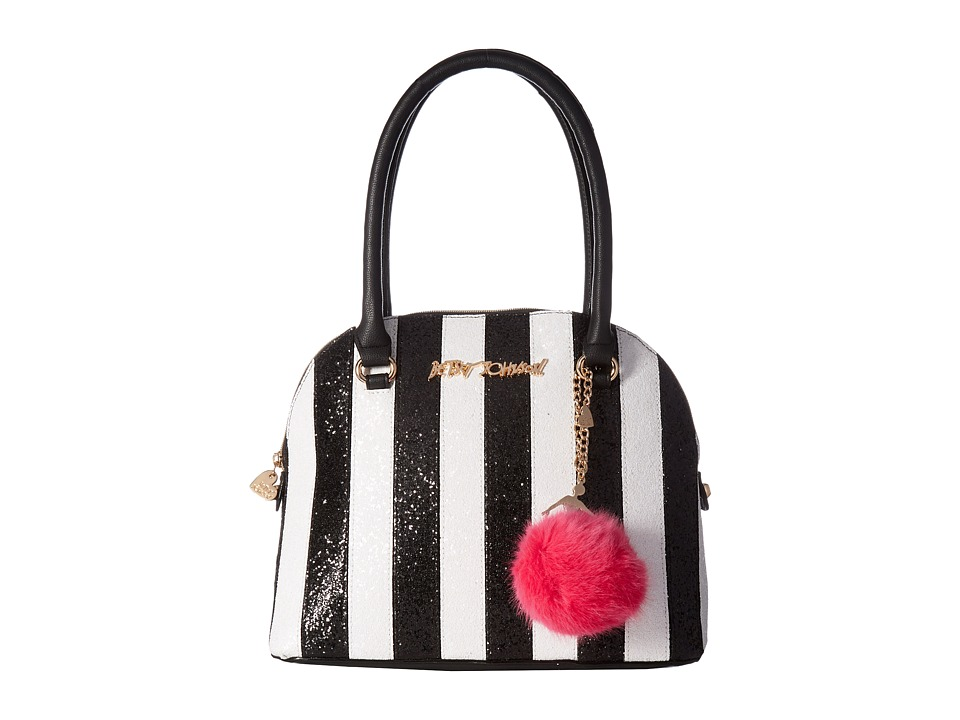 Betsey Johnson - Candy Cane Dome Satchel (Stripe) Satchel Handbags