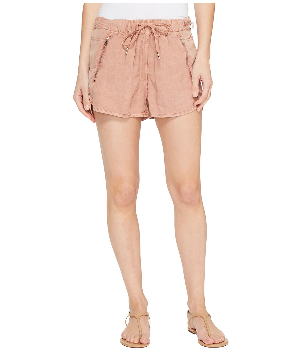 Blank NYC - Drawstring Shorts with Zipper Detail in Fading Rose (Fading Rose) Women's Shorts
