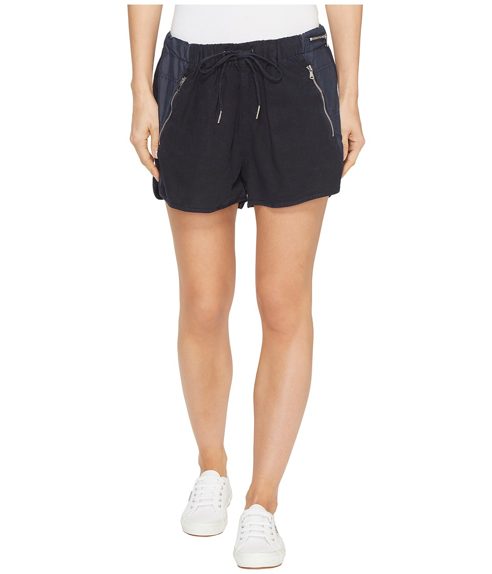 Blank NYC - Drawstring Shorts with Zipper Detail in Midnight Hour (Midnight Hour) Women's Shorts