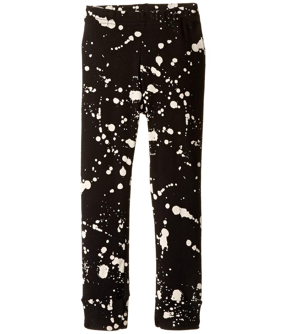 Nununu - Splash Leggings (Infant/Toddler/Little Kids) (Black) Kid's Casual Pants