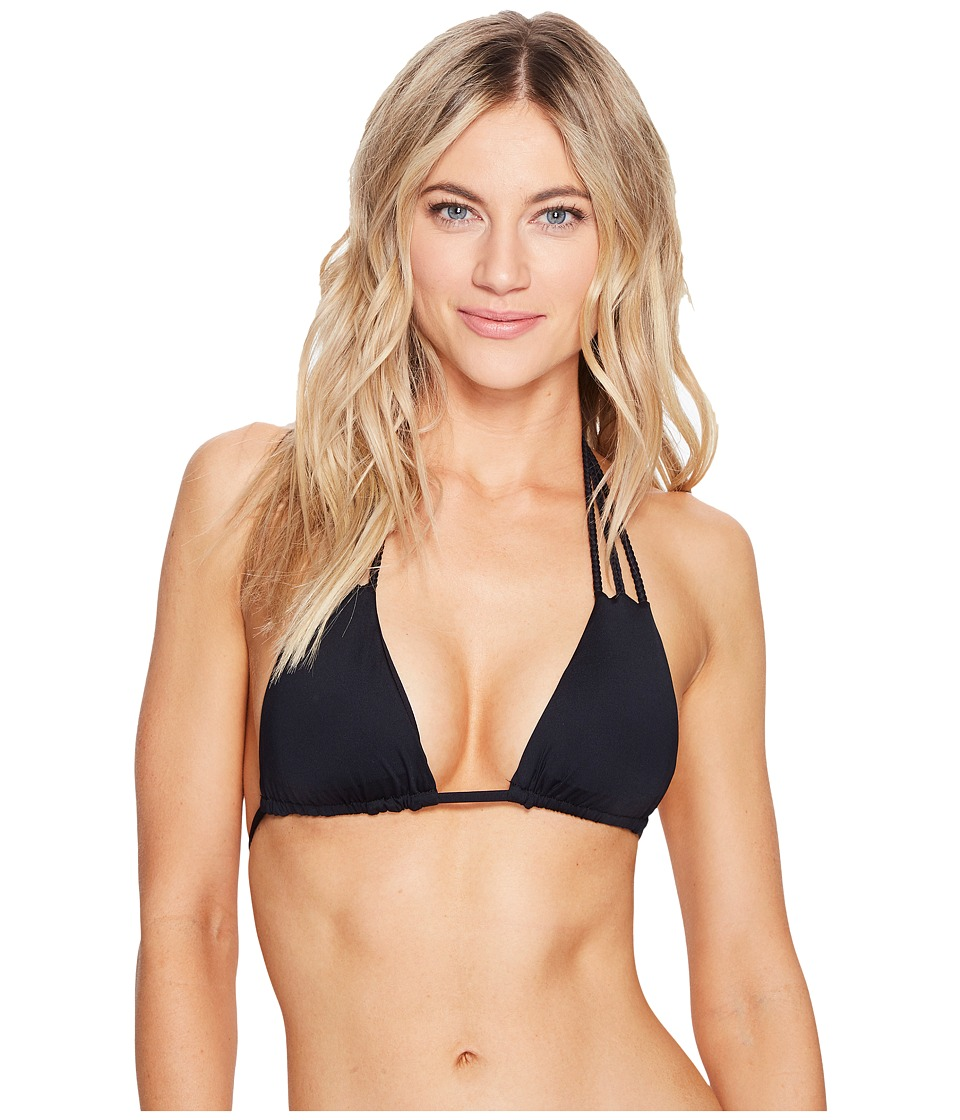 Vitamin A Swimwear - Jaydah Braid Triangle Top (Eco Black) Women's Swimwear