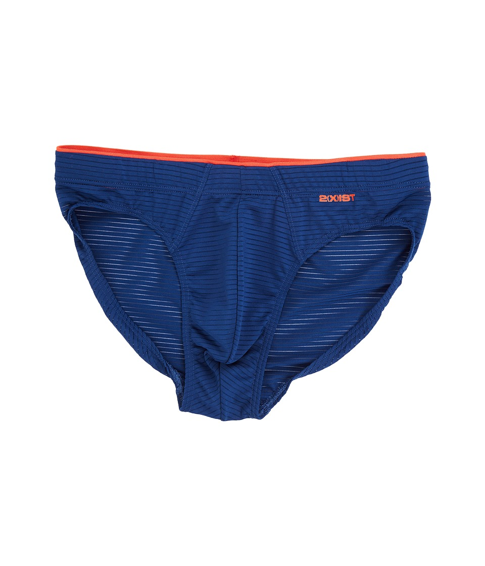 2(X)IST - Sliq Micro Sliq Brief (Estate Blue) Men's Underwear