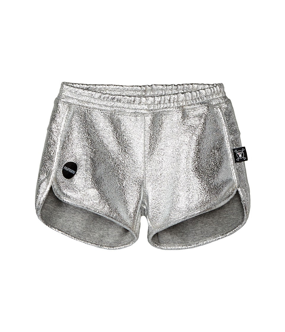 Nununu - Silver Gym Shorts (Little Kids) (Silver) Girl's Shorts