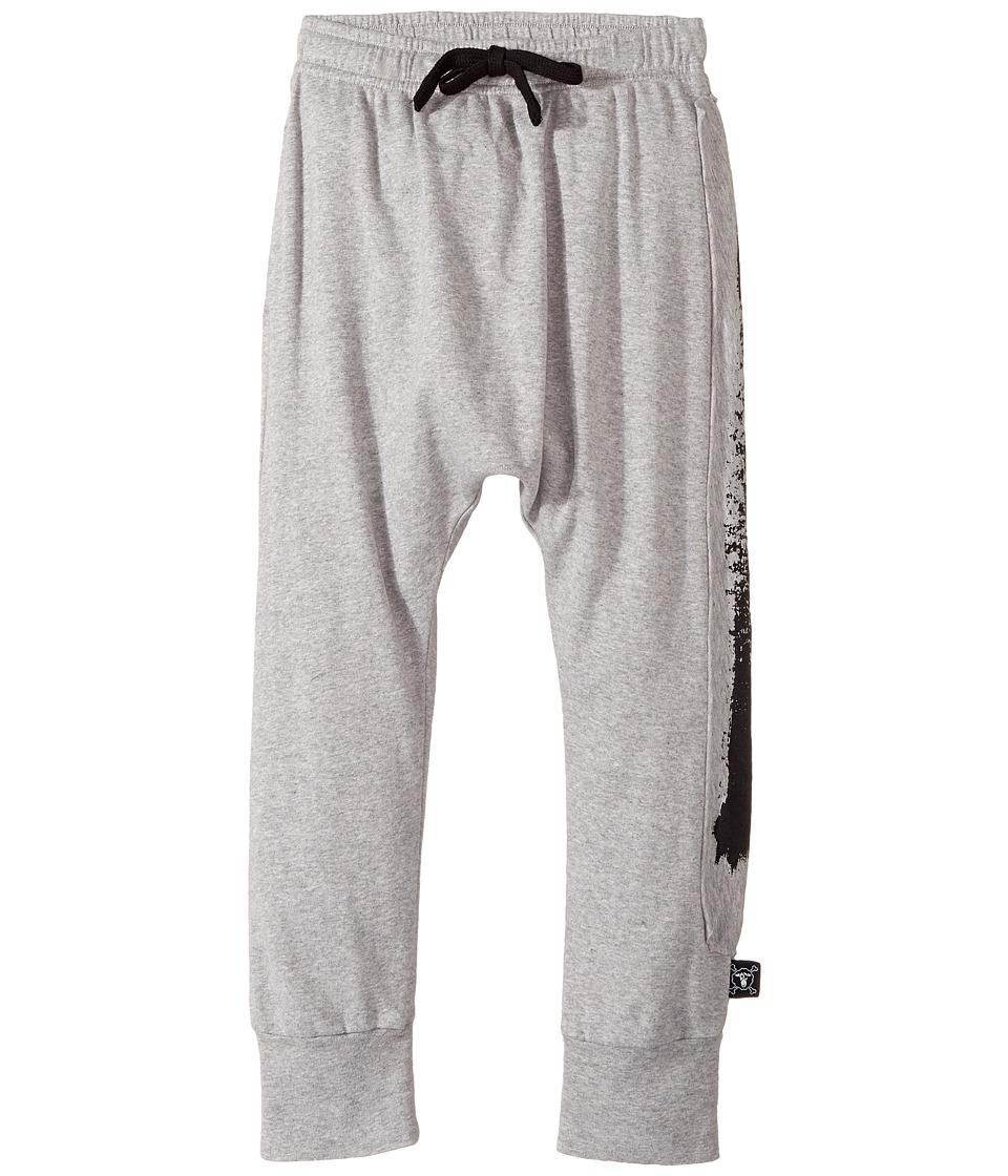 Nununu - Brush Stroke Baggy Pants (Little Kids/Big Kids) (Heather Grey) Kid's Casual Pants
