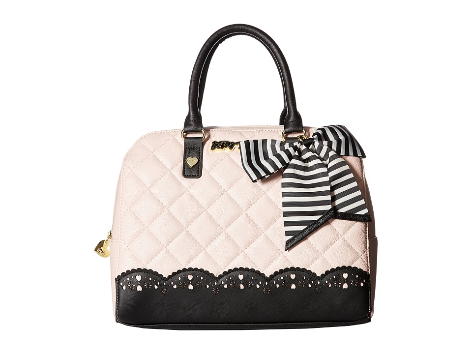 Betsey Johnson - Diamond Quilt Lazer (Blush) Handbags