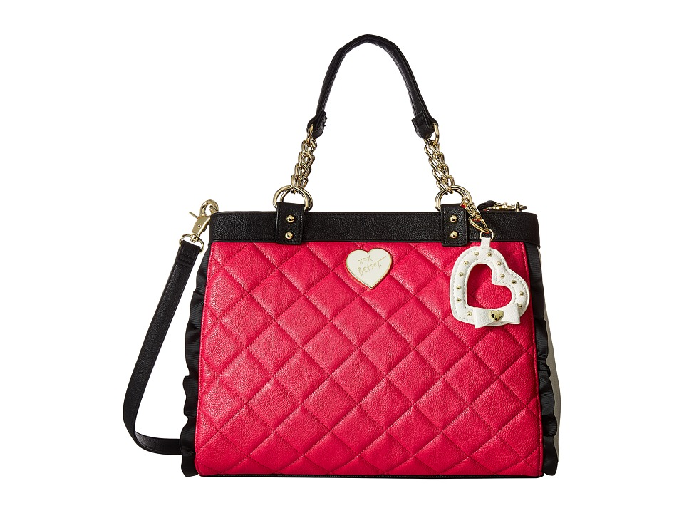 Betsey Johnson - Frills Triple Compartment (Fuchsia) Handbags