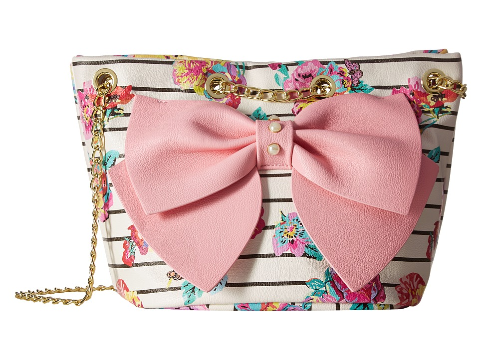 Betsey Johnson - Hopeless Romantic Bucket (Pink) Satchel Handbags