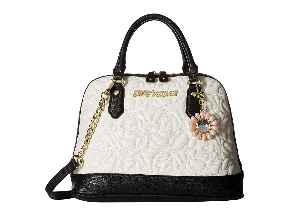 Betsey Johnson - Rose Quilt Medium Dome (Cream) Handbags