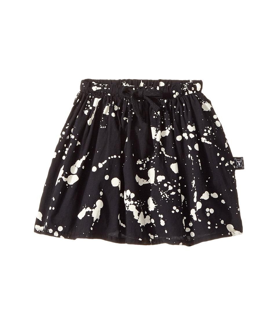 Nununu - Voile Splash Skirt (Toddler/Little Kids) (Black) Girl's Skirt