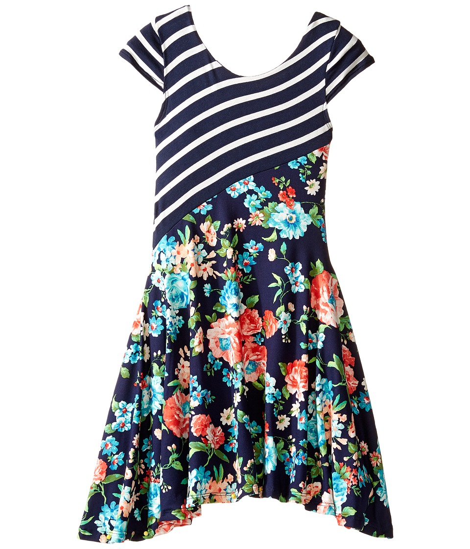 fiveloaves twofish - Dance with Me Dress (Little Kids/Big Kids) (Navy) Girl's Dress