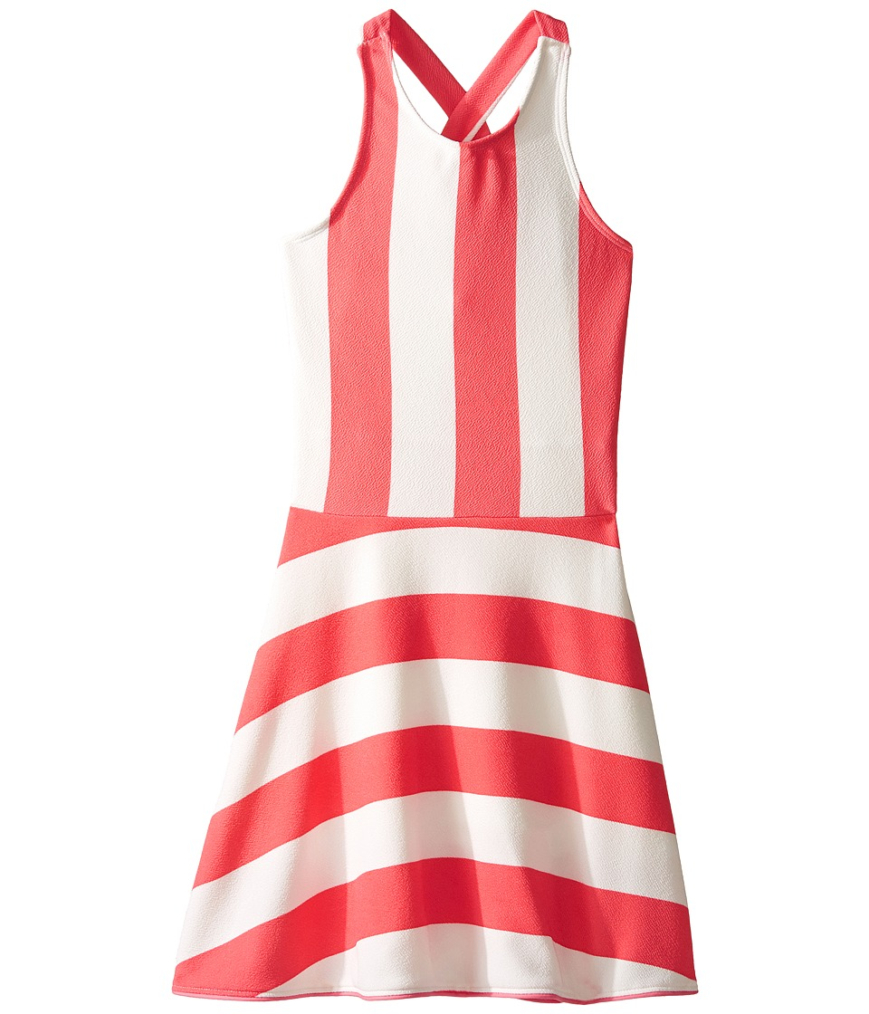 fiveloaves twofish - Lilo Sporty Dress (Big Kids) (Coral) Girl's Dress